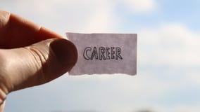 Kariera pomysł, etykietka z inskrypcją zdjęcie wideo