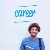 Kariera przeciw szczęśliwej studenckiej mienie książce Zdjęcia Stock