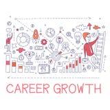 Kariera przyrosta procesu elementów Kreatywnie nakreślenie Infographic Zdjęcia Stock
