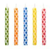 Karierte Geburtstags-Kerzen Stockbilder
