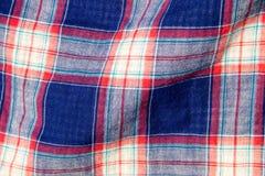 Karierte Gewebeplaidbeschaffenheit Traditionelles schottisches Muster Lizenzfreie Stockfotos