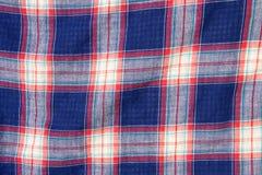Karierte Gewebeplaidbeschaffenheit Traditionelles schottisches Muster Stockfotografie