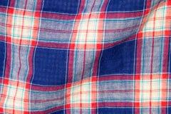 Karierte Gewebeplaidbeschaffenheit Traditionelles schottisches Muster Lizenzfreie Stockbilder