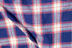 Karierte Gewebeplaidbeschaffenheit Traditionelles schottisches Muster Lizenzfreie Stockfotografie