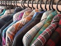 Karierte Hemden Stockfotos