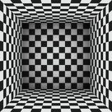 Karierte Oberflächen, das einen abstrakten Raum macht Stockfotos