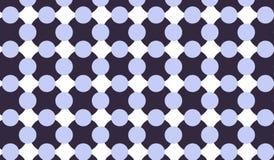 Kariertes Muster des einfachen modernen abstrakten blauen Kreises Stockfoto