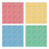 Kariertes Picknick, das nahtloses Muster der Tischdecke kocht Stockbilder