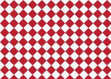Kariertes, rotes und weißes Textildruckschach des modernen Musters, AB Stockfoto