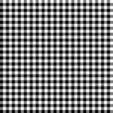 Kariertes Tischdeckenmuster SCHWARZ- endlos vektor abbildung