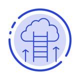 Kariery ścieżka, kariera, sen, sukces, Skupia się błękit Kropkującą linii linii ikonę ilustracja wektor