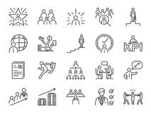 Kariery ścieżki ikony set Zawrzeć ikony, promował gdy newbie, osoba poszukująca pracy, headhunter, headhunting, pierwszy szachraj ilustracja wektor