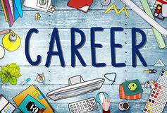 Kariery pracy Akcydensowy Zatrudnieniowy Rekrutacyjny pojęcie ilustracji