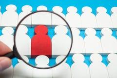 Kariery sposobność, biznesowy akcydensowy pojęcie Ochotniczy ludzie rewizji zdjęcia stock