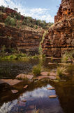 Karijini Gorges. A walk in Karijini gorges Stock Photography