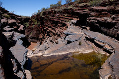 Karijini Hancock klyfta - Australien Royaltyfria Bilder