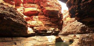 Karijini park narodowy, zachodnia australia Fotografia Stock