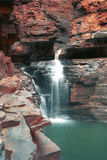 Karijini Waterfall. Waterfall in Karijini national Park in Western Australia during the wet season Stock Photo
