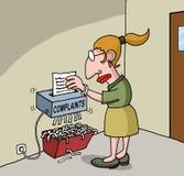Karikatur über weiblichen Büroangestellten Lizenzfreies Stockbild