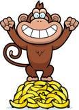 Karikatur-Affe-Bananen Stockfotos