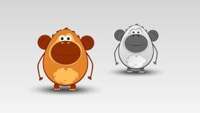 Karikatur-Affe im Vektor Lizenzfreie Stockbilder