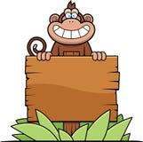 Karikatur-Affe-Zeichen Lizenzfreie Stockbilder