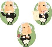 Karikatur-Aktionssatz Präsidenten George Washington Lizenzfreie Stockfotografie