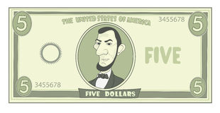 Karikatur-Amerikanerdollar Stockbild