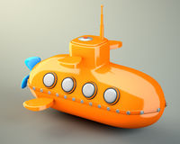 Karikatur-angeredetes Unterseeboot Lizenzfreies Stockfoto