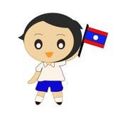 Karikatur ASEAN Laos Lizenzfreies Stockbild