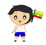 Karikatur Asean Myanmar Lizenzfreies Stockfoto