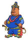 Karikatur-Asiats-Sultan Lizenzfreie Stockfotos