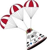 Karikatur-Astronauten-Raum-Kapsel stock abbildung