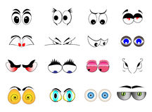 Karikatur-Augen Lizenzfreie Stockbilder