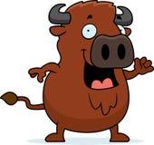 Karikatur-Büffel-Wellenartig bewegen Lizenzfreies Stockbild