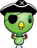 Karikatur-Baby-Papageien-Pirat Lizenzfreies Stockbild