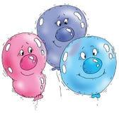Karikatur-Ballon-Gesichter Lizenzfreie Stockfotografie