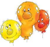 Karikatur-Ballon-Gesichter Stockfotografie