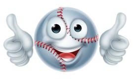 Karikatur-Baseball-Ball-Mann-Charakter Lizenzfreies Stockfoto