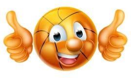 Karikatur-Basketball-Ball-Mann-Charakter Stockfoto