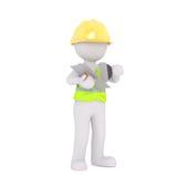 Karikatur-Bauarbeiter Holding Plaster Tools Lizenzfreies Stockbild