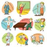 Karikatur-Beruf-Satz Lizenzfreie Stockbilder