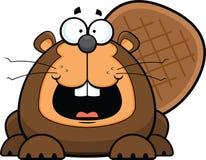 Karikatur-Biber glücklich Lizenzfreie Stockfotografie
