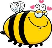 Karikatur-Biene in der Liebe Lizenzfreie Stockbilder
