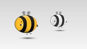 Karikatur-Biene im Vektor Stockfotos