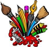 Karikatur-Bild von Kunst-Zubehör Lizenzfreie Stockfotos