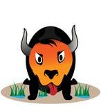 Karikatur-Bison-Abbildung Lizenzfreie Stockfotos