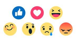 Karikatur-Blase Emoticons des Vektors der hohen Qualität 3d plaudern runde gelbe für Social Media Kommentarreaktionen, Ikonenscha vektor abbildung