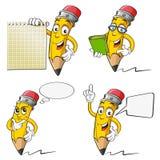 Karikatur-Bleistift Stockfotografie
