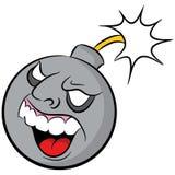 Karikatur-Bombe mit Lit-Sicherung Lizenzfreie Stockbilder